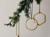 Decoración de Navidad minimalista: árbol adornos formas geométricas