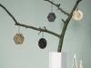 Decoración de Navidad minimalista: árbol adornos formas