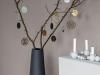 Decoración de Navidad minimalista: árbol adornos redondos