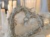 Decoración de Navidad shabby chic: centro de mesa corazón