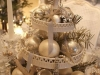 Decoración de Navidad shabby chic: centro de mesa