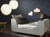 Decoración original de habitaciones infantiles: cama de estrellas