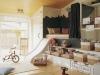 Decoración original de habitaciones infantiles: cama tobogán