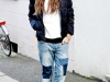 Denim patchwork: look con jeans boyfriend
