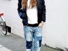 Denim patchwork: look con jeans boyfriend