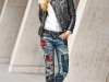Denim patchwork: look con jeans de parches
