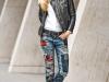 Denim patchwork: look con jeans de parches
