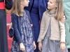 Día de la Hispanidad 2015: la Reina Letizia con la Princesa Leonor y la Infanta Sofía