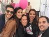 Chenoa posando en el acto contra el cáncer de mama