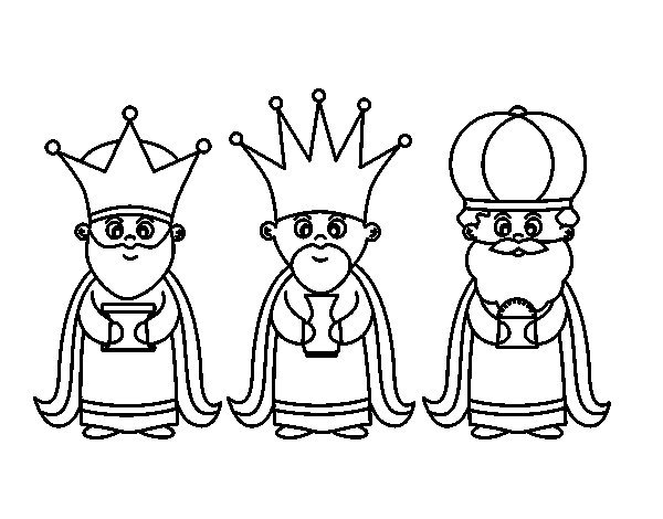 Dibujos de los Reyes Magos para colorear: Los mejores