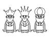 Los 3 Reyes Magos para colorear