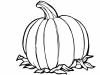 Dibujos de otoño para colorear: Calabaza
