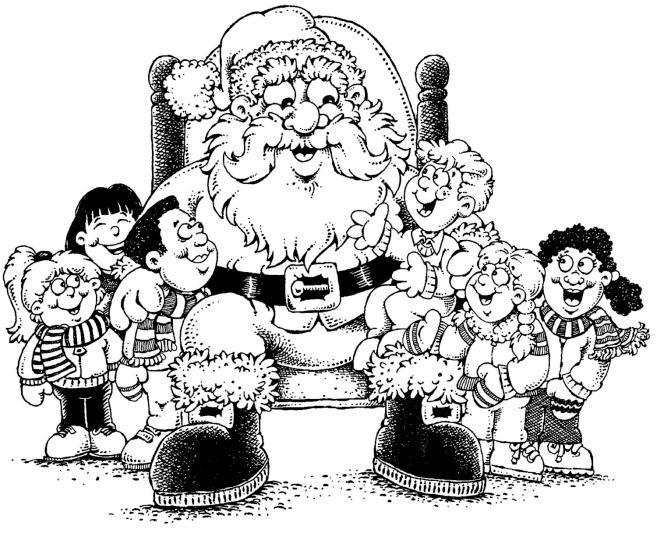 Dibujos De Papa Noel En Color Para Imprimir