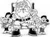 Dibujos de Papá Noel para colorear: con niños
