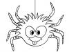 Dibujos para colorear de Halloween: araña
