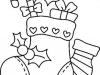 Dibujos para colorear de Navidad: Calcetín de Navidad