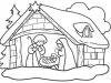 Dibujos para colorear de Navidad: Belén