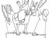 Dibujos para colorear de Semana Santa: La borriquilla