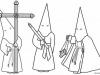 Dibujos para colorear de Semana Santa: Los cofrades