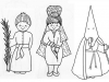 Dibujos para colorear de Semana Santa: Procesiones