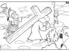 Dibujos para colorear de Semana Santa: Jesús con la cruz