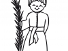 Dibujos para colorear de Semana Santa: Niño con palma