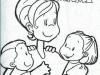 Dibujos para colorear del día de la madre: mamá con dos niños