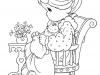 Dibujos para colorear del día de la madre: mamá con niño