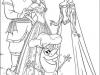Dibujos para colorear Frozen Anna, Kristoff, Elsa y Olaf