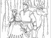 Dibujos para colorear Frozen Anna, Kristoff, Sven y Olaf