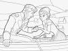 Dibujos para colorear Frozen Anna y Hans