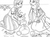 Dibujos para colorear Frozen Elsa y Anna con Olaf