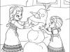 Dibujos para colorear Frozen Elsa y Anna de pequeñas
