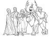 Dibujos para colorear Frozen los personajes