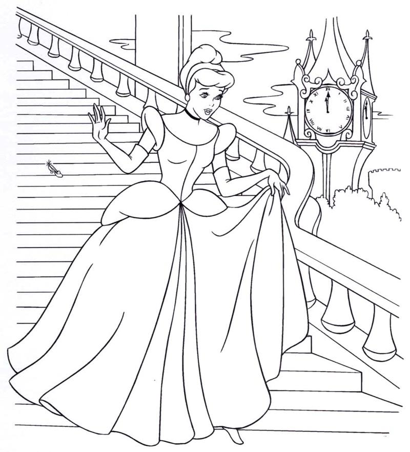 Dibujos Para Colorear De Princesas Para Imprimir