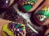 Diseños de uñas de Carnaval: colores y brillos