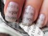 Diseños de uñas fáciles y bonitos manicura de papel