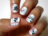 Diseños de uñas fáciles y bonitos manicura con letras