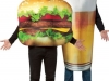 Disfraces de Carnaval en pareja: hamburguesa y cerveza