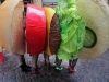 Disfraces de Carnaval para grupos: hamburguesa