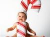 Disfraces de Navidad para bebés: Bastón de caramelo