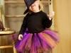 Disfraz de bruja para niña casero modelo con tutú de colores