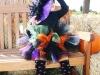 Disfraz de bruja para niña casero: modelo con tutú y sombrero