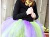 Disfraz de bruja para niña casero: modelo con tutú