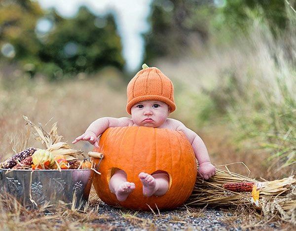 Disfraz de calabaza para beb s casero el paso a paso - Trajes de calabaza ...