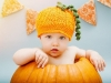 Disfraz de calabaza para bebés: Con gorro de ganchillo