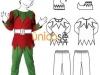 Disfraz de duende de Navidad para niño: patrón