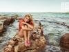 Elsa Pataky para Gioseppo campaña PV 2017: sandalias planas con borlas rosas
