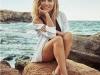 Elsa Pataky para Gioseppo campaña PV 2017: sandalias planas con pedrería