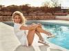 Elsa Pataky para Gioseppo campaña PV 2017: zapatillas blancas
